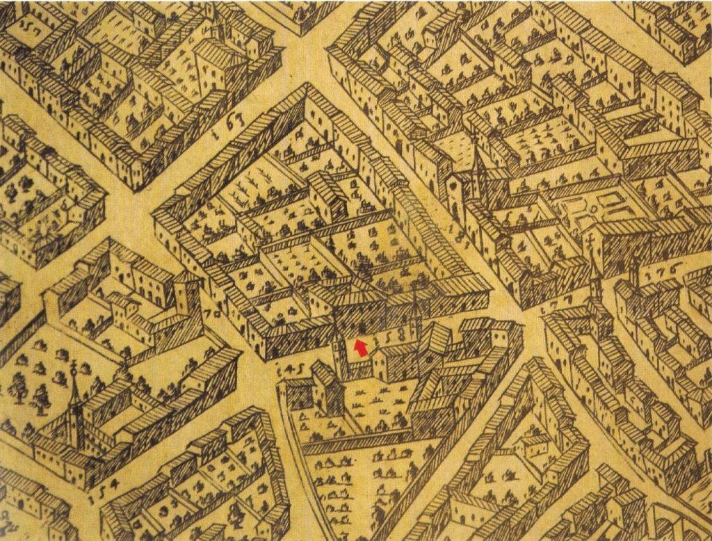 Historical map of Mantua