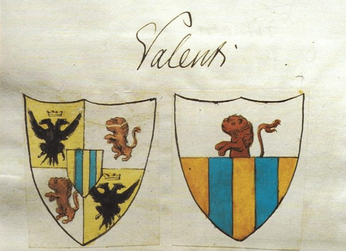 Coat of arms of the Marquis Valenti